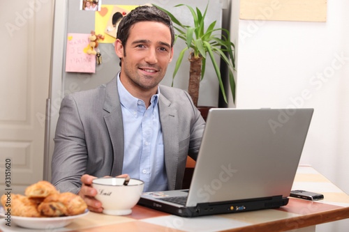 portrait of a businessman at home