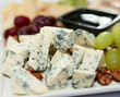 Blue cheese with grapes and nuts