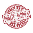 Donate blood grunge rubber stamp