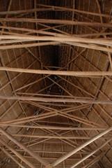 Dachkonstruktion eines Eingeborenenhauses