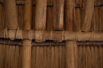 Wandkonstruktion eines Eingeborenenhauses