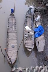 Flussboote im Mekongdelta