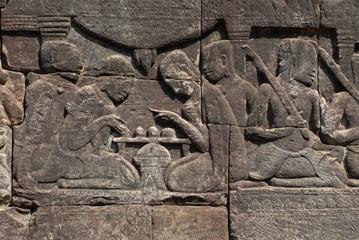Relief im Tempel Bayon 1