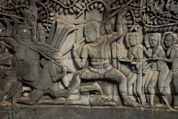 Relief im Tempel Bayon 2