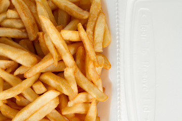 French Fries in Take Out Container