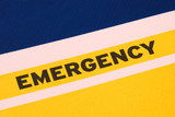 The word Emergency concepts of urgency and risk poster