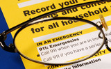 Provide the contact information in case of emergency poster