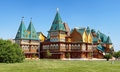Wooden palace of tzar Aleksey Mikhailovich, Kolomenskoe, Russia