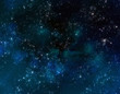 Leinwanddruck Bild - deep outer space or starry night sky