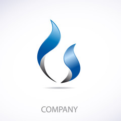Logo natural gas 3d # Vector