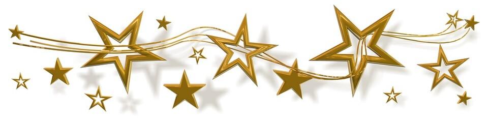Sterne Gold auf Weiß - banner 02