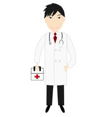 薬箱を持つ医者