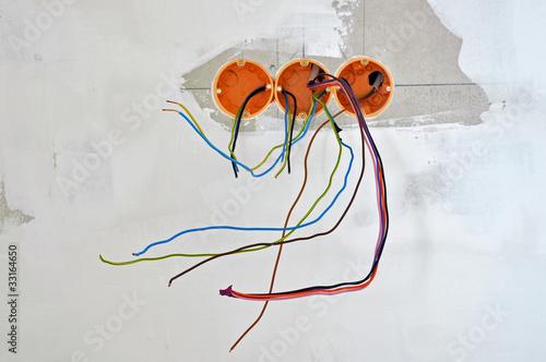 Leinwandbild Motiv elektroinstallation