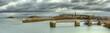 Leinwanddruck Bild - HDR des digues de Saint-Malo