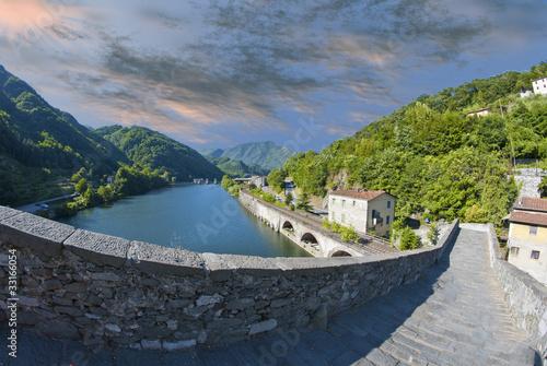 Devils Bridge Fisheye View, Lucca