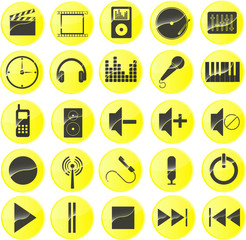 Multimediasymbole Gelb