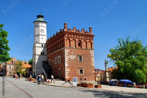 The view of Sandomierz downtown at daylight. Poland. - 33167227