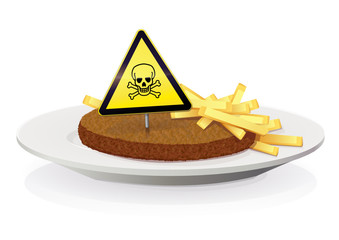 Steak haché frites : danger de mort
