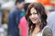 asian woman in songkran festival