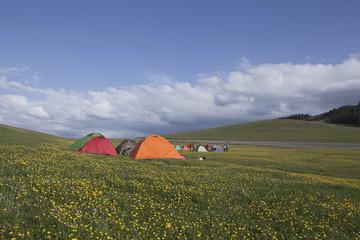 野营在草原