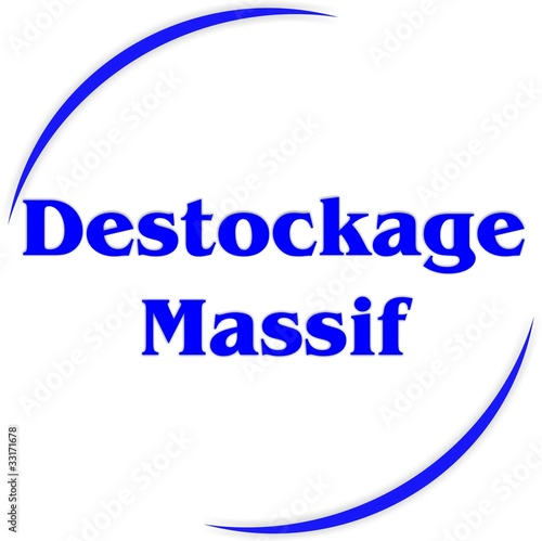 bouton destockage massif