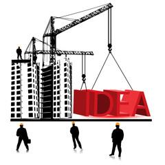 Idea home construction.Vector