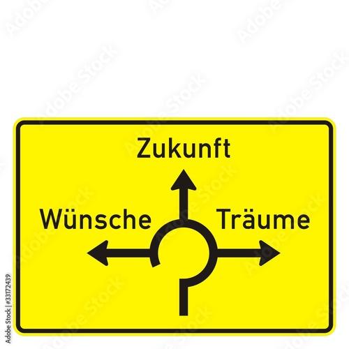 Wegweiser - Kreisverkehr - nach StVO - Konzeption
