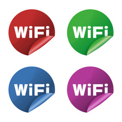 Wifi icon stickers