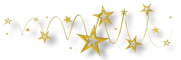Sterne Gold auf Weiß - banner 04