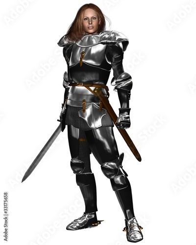 Female Knight in Shining Armour
