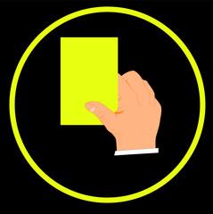 Cartellino giallo - ammonizione