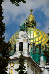 Art Nouveau Church, Golden Cupola Vienna