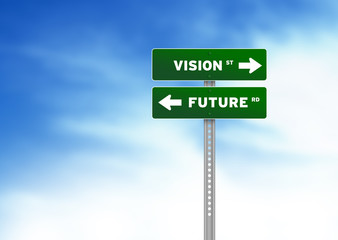 Vision and Future Road Sign