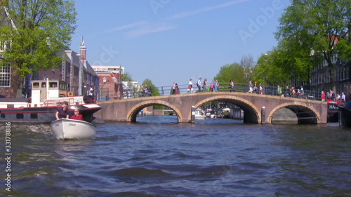 Canals of Amsterdam - boat trip , Netherlands