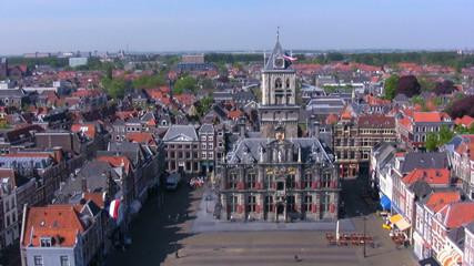 View from Nieuwe Kerk on Stadhuis, Delft, Netherlands