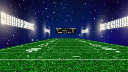 American Football  Fiield Blue Light  punt return
