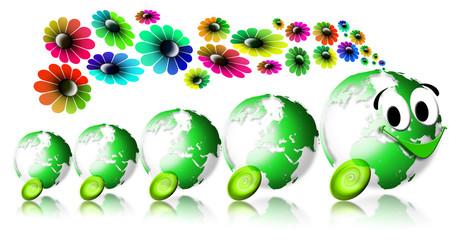 World ecology locomotive flowers