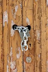 worn wooden door detail