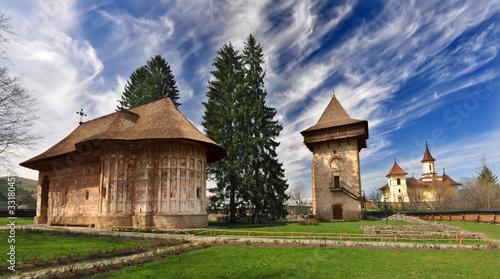 Leinwanddruck Bild Humor Monastery