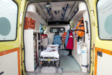 inside of an ambulance