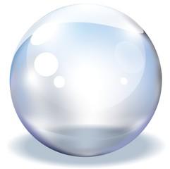 Glas Kugel Transparent