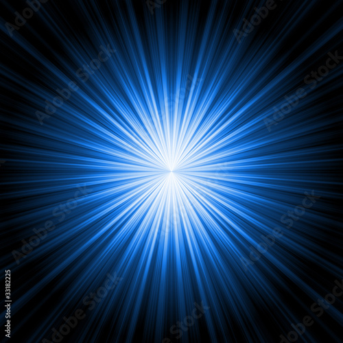 Papiers peints Lumiere, Ombre abstract radiant star