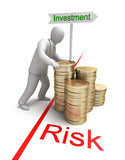 Risk in Investment, 3D conept poster