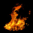 Flames on Black Photographic Background - 33185264