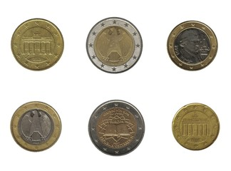 euro coin, germany and austria