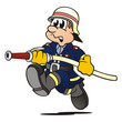 Firefighter running