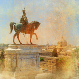 great Italians landmarks series -Rome poster