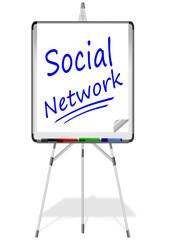 Flipchart Social Network