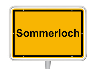 Schild Sommerloch