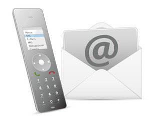 E-Mail + Telefone - Icon - grey